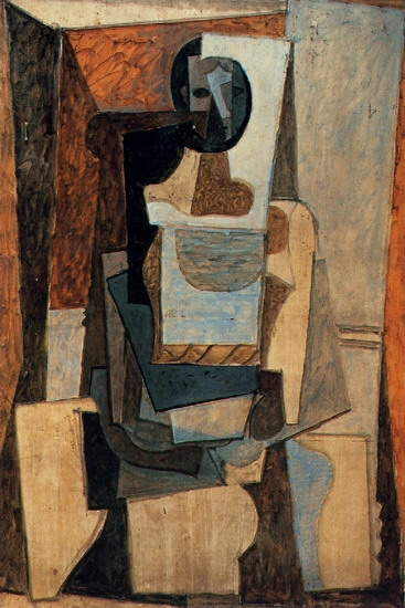 Pablo Picasso. Woman sitting in an armchair, 1919