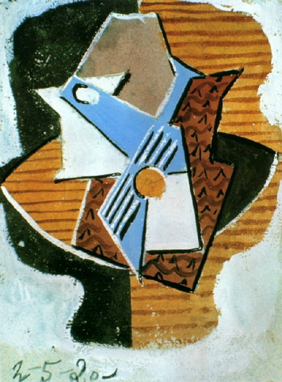 Pablo Picasso. Guitar on a table, 1922