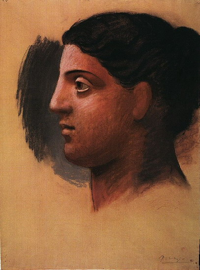 Pablo Picasso. Head of a Woman (Study for `Three women in fontaine`), 1921