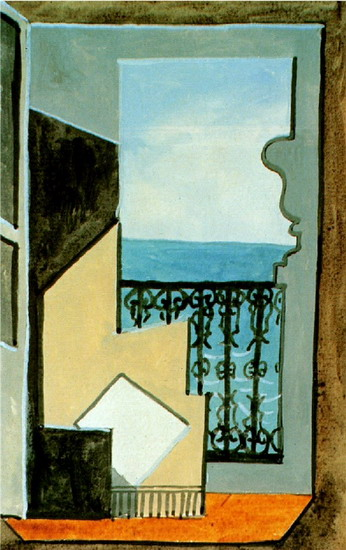 Pablo Picasso. Balcony with sea view, 1919