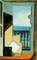 Pablo Picasso. Balcony with sea view