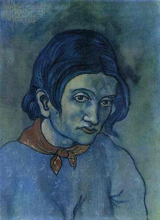 Pablo Picasso. Head of a Woman, 1902