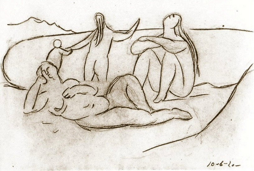 Pablo Picasso. Bathers and children, 1920