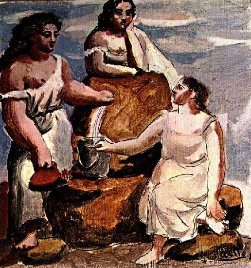 Pablo Picasso. Three women in the fountain [study], 1921