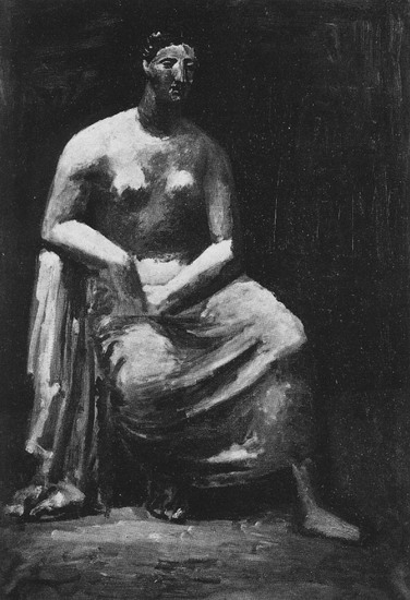 Pablo Picasso. Woman in an armchair, 1922
