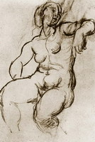Pablo Picasso. Seated Nude