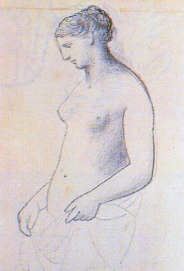 Pablo Picasso. Nude female standing, 1922