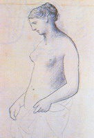 Pablo Picasso. Nude female standing