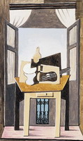 Pablo Picasso. Still life in a window