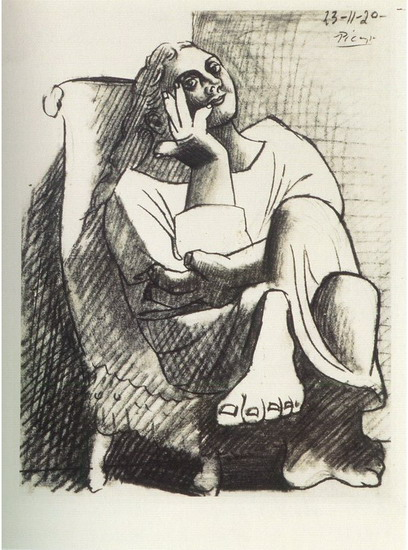 Pablo Picasso. Seated Woman, 1920