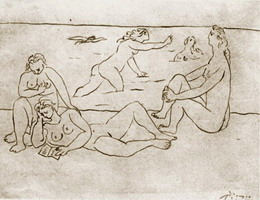 Pablo Picasso. Bathers on the beach, 1920