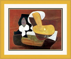 Pablo Picasso. Mandolin and musical scope