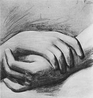 Pablo Picasso. study of hands, 1920