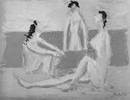 Pablo Picasso. Three Bathers I
