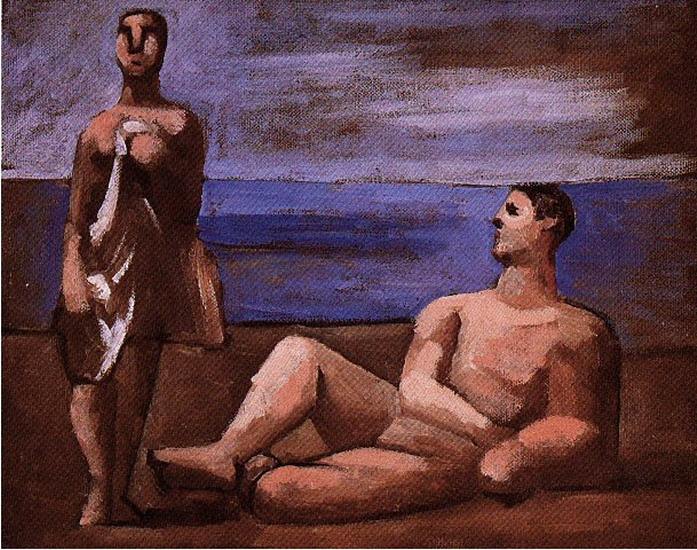 Pablo Picasso. Two bathers, 1921