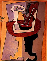 Pablo Picasso. Man with a Mandolin
