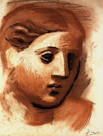 Pablo Picasso. Head of a Woman, 1921