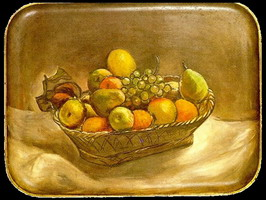 Pablo Picasso. Corbeille de fruits