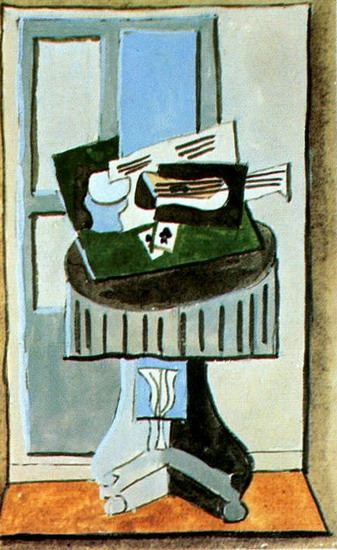Pablo Picasso. Still life in a window, 1919