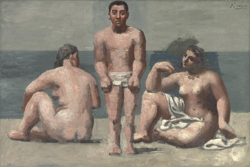 Pablo Picasso. Bather and Bathers, 1921