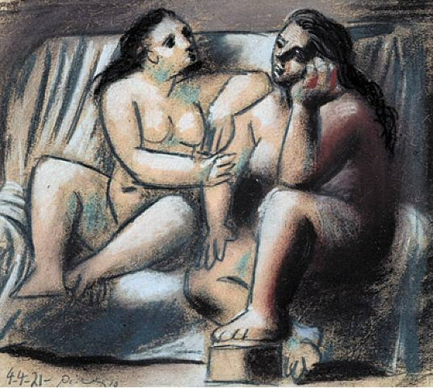 Pablo Picasso. Two seated naked women, 1921