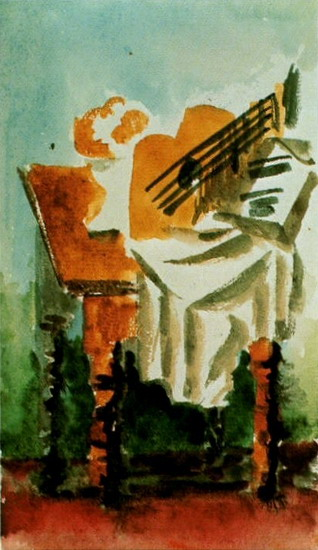 Pablo Picasso. Still Life and guitar, 1919