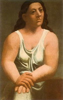 Bust of seated woman (Woman with a shirt)