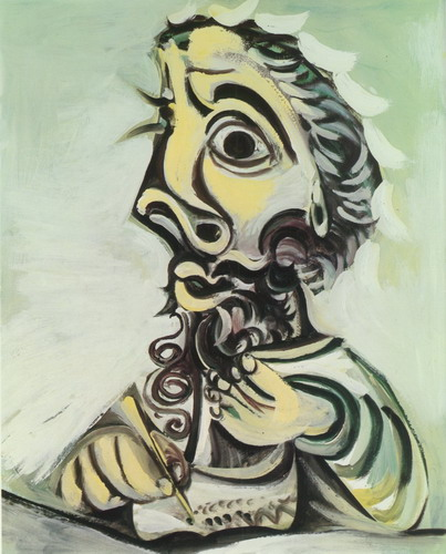 Pablo Picasso. D`homme writing Bust II, 1971