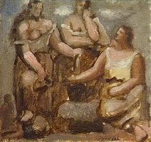 Three women in the fountain 1