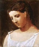 Pablo Picasso. Bust of a woman's shirt