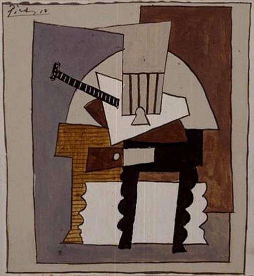 Pablo Picasso. Still Life with pedestal, 1920