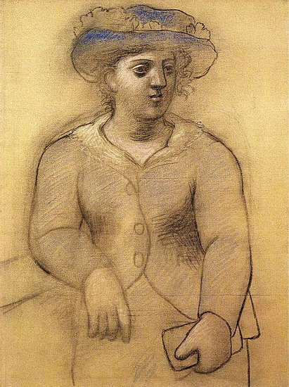 Pablo Picasso. Woman with hat, 1921