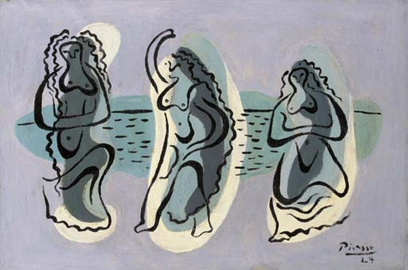 Pablo Picasso. Three women at the edge of a beach, 1924