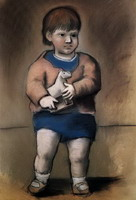 Pablo Picasso. The lad horse toy (Paulo), 1923