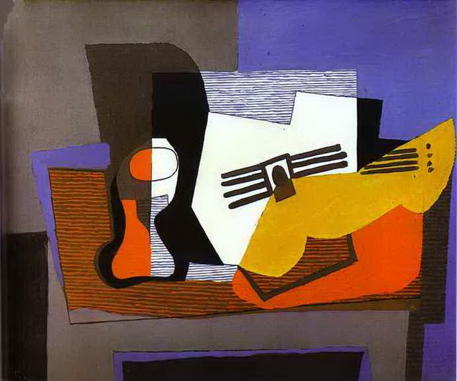 Pablo Picasso. Still Life with Guitar, 1942