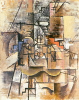 Pablo Picasso. Guitar, glass and pipe