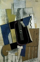Pablo Picasso. Guitar and Newspaper