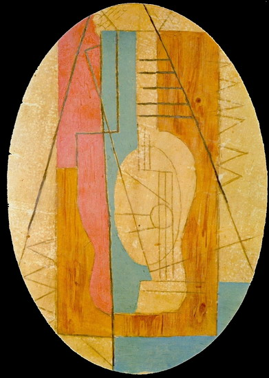 Pablo Picasso. Guitar green and pink, 1912