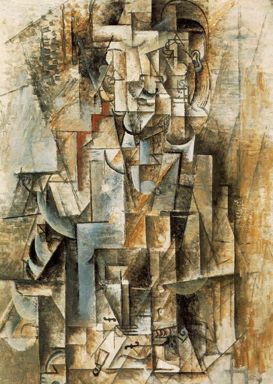 Pablo Picasso. [Man with Guitar] Male violin, 1912
