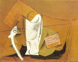 Pablo Picasso. Pipe glass box d`allumettes