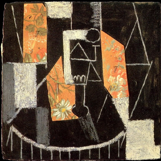 Pablo Picasso. Glass on a pedestal, 1913