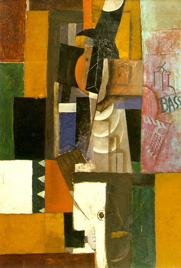 Pablo Picasso. Man with Guitar, 1912