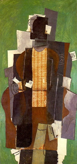 Pablo Picasso. Man with a Pipe (The smoker), 1914