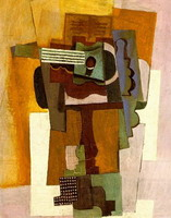 Pablo Picasso. Guitar on a pedestal
