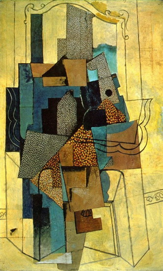 Pablo Picasso. Man with fireplace, 1916