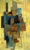 Pablo Picasso. Man with fireplace