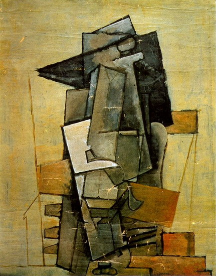 Pablo Picasso. Seated Man, 1915