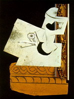 Pablo Picasso. Pipe and Glass