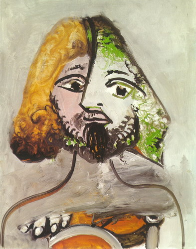 Pablo Picasso. Bust of man, 1971