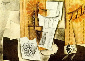 Pablo Picasso. Glass, ace of clubs and